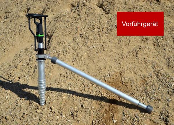 Schraubfundament-Eindrehmaschine, VORFÜHRGERÄT